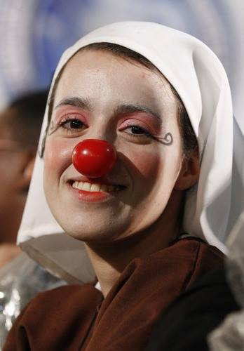 nun clown nose